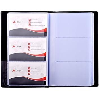 Amazon 300 cells pu leather business name card holder id card maxgear professional pu leather business card book holder journal business card organizer name card colourmoves Choice Image
