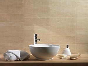 Swish Marbrex Sandstone Tile Effect Wall Panels Bathroom Ceiling Cladding  PVC Wet Wall Kitchen Panels (9, Standard)