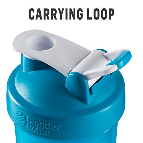 BlenderBottle Classic Loop Top Shaker Bottle, Clear/Black, 28-Ounce Loop Top