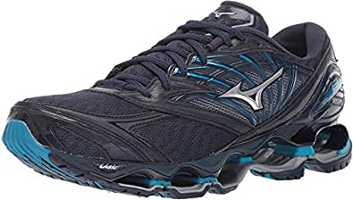 Mizuno Men's Wave Prophecy 8 Running Shoe, blue wing teal-silver, 13 D US
