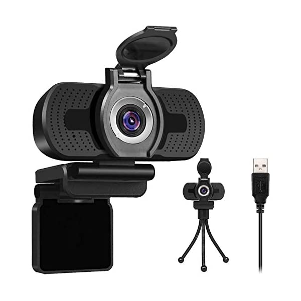 Webcam with Microphone for Desktop 1080P HD USB Computer Cameras with Privacy ShutterWebcam Tripod