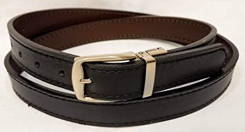- Leather Reversible Belts Stitched 1 1/8