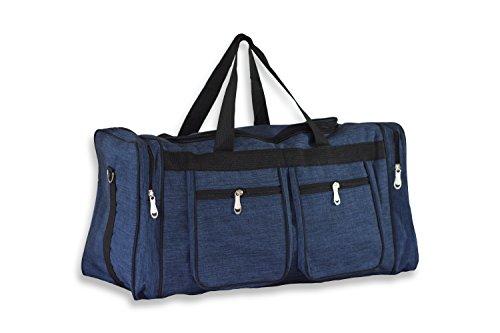 Large Blue Duffle Bag|Big Heavy Duty Polyester|Unisex Design for Men, Women, Kid