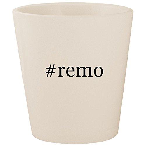 (#remo - White Hashtag Ceramic 1.5oz Shot Glass)