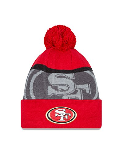 NFL San Francisco 49ers Gold Collection Team Color Knit Beanie, One Size fits All, Red/Gray