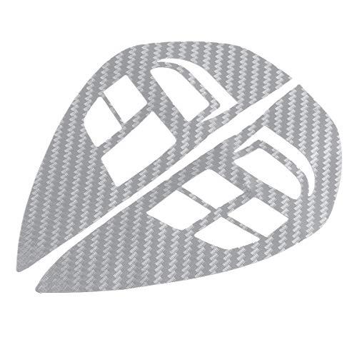 AjaxStore - Steering Wheel Control Switch Audio Cruise Button Sticker Carbon Fiber Cover Trim for Mitsubishi ASX Lancer Outlander RVR ()