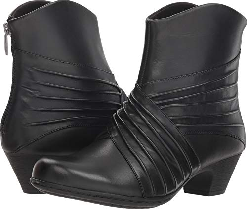 Rockport Women's Brynn Rouched Boot Ankle, Black, 9.5 W US