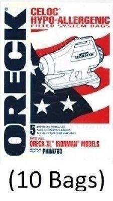 Oreck XL Ironman Vacuum Bags (10 Bags) Genuine Part# PKIM765