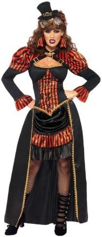 Smiffys - Disfraz de vampiresa victoriana para mujer, talla S ...