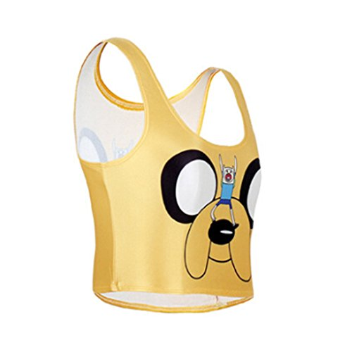 Top Dog Cheerleading - Fashion Patterned Camisole Crop Tank Tops Corsets Short Vest Midriff(Dog)