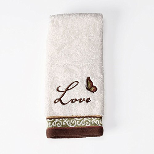 Bath Believe (Saturday Knight Inspire Cotton Fingertip Towel, 11-Inch by 18-Inch, Natural)