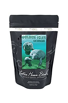 Golden Isles, Georgia - Manatees (8oz Whole Bean Small Batch Artisan Coffee - Bold & Strong Medium Dark Roast w/ Artwork)