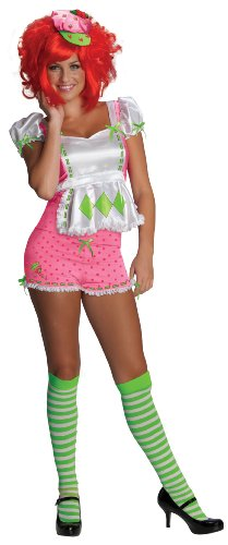 Secret Wishes Strawberry Shortcake Costume and Accessories, Pink/White,