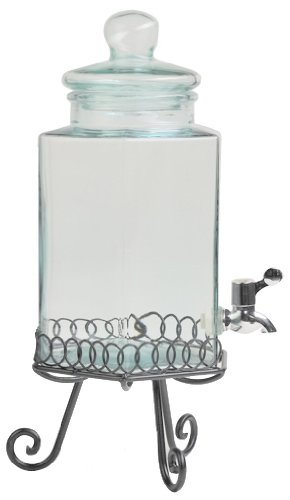 Amici Medium Hexagonal Spigot Jar with Loop Stand, 204-Ounce