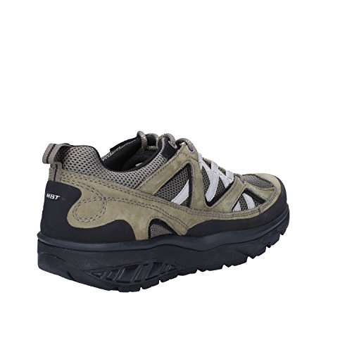 MBT Sneakers Mujer Verde Gris Textil Cuero de ante (39 EU)