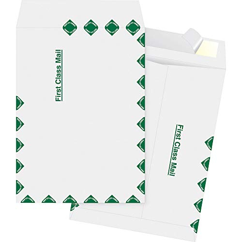 Business Source Dupont Tyvek 1st Class Envelopes, 12 x 15.5 Inch