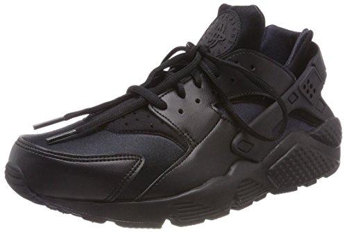 (Nike Women's Air Huarache Run Black/Black Running Shoe 7 Women US)