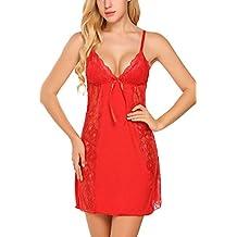 Avidlove Women Lingerie Modal Sleepwear Lace Chemises Camisole Full Slips