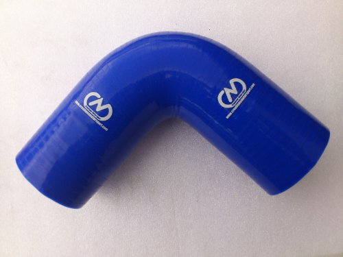 90 Degree Silicone Elbow Bend Hose Rubber Coolant Radiator Intercooler 54mm BLUE: