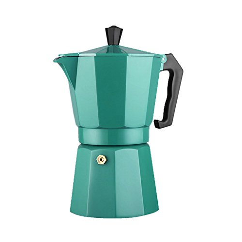 MagiDeal 240ml Coffee Pot Aluminum Moka Maker Stove Top Percolator Drip Latte Kettle - Green, 9.2x11x20cm