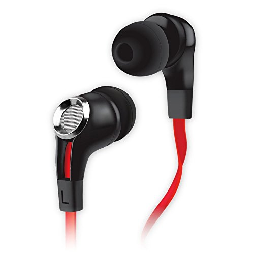 Naztech Wired Headset for Universal/Smart Phones/Computer - Black/Red