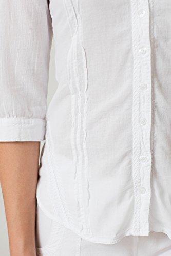 Para Blanco Camisas Cotonniere La Mujer pUwxE0BqzW