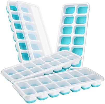 Benrise 4 paquetes de bandeja para cubitos de hielo, mejor para ...