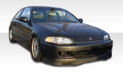 (1992-1995 Honda Civic 2DR / HB Polyurethane Spoone Front Lip Under Spoiler Air Dam - 1 Piece)