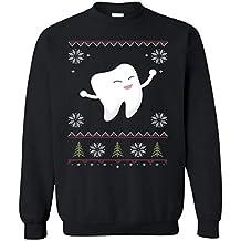 Dolphintee Ugly Sweatshirt Christmas 2018 Dentist Dental Funny Gift