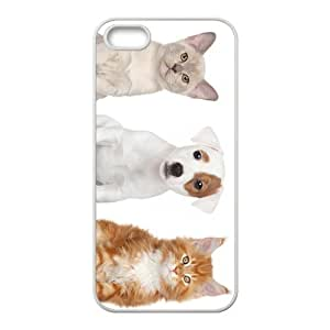 Dog And Cat Friend Hight Quality Plastic Case for Iphone 5s