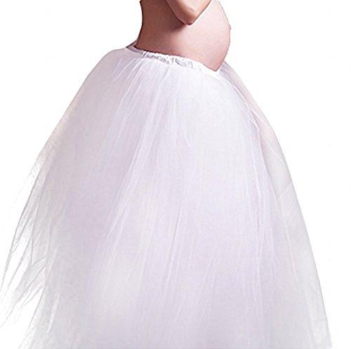 YUOI Maternity Photography Props White Long Skirt for Pregnancy Shoot (white)