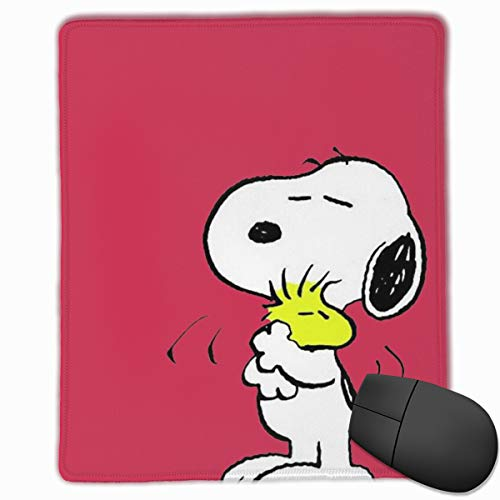 Anti-Slip Mouse Pad Snoopy with Friends Premium Mouse Pad for Desktop Laptop Keyboard Consoles (Snoopy Computer Mouse)