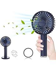 Bekú Ventilador de USB, Mini Ventilador De Portatil de Mano USB Recargable Mini Fan Plegable Perfecta para Viajes, Camping, Casa, Oficina, Clase