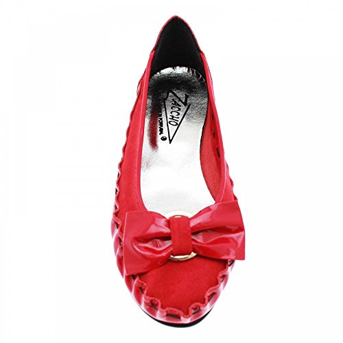 ZACCHO Red donna rosso Ballerine Red rqxOwRr1