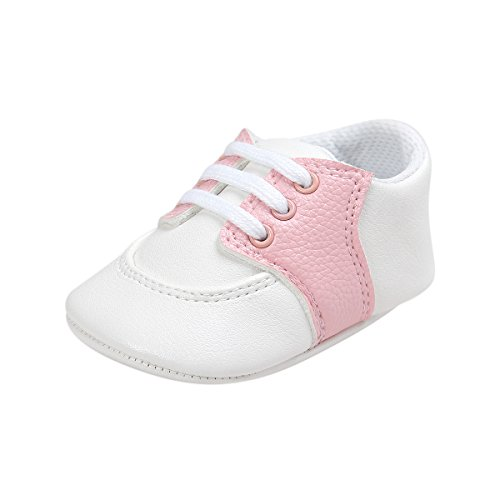 Soft Soles Classic Sandal (Mjun Baby Boys Girls Toddler Sneaker Anti-Slip Soft Sole Shoes PU Leather Sneakers (12-18 Months, Pink))