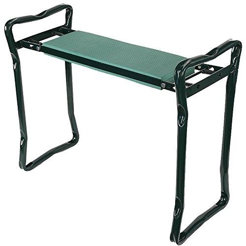 KARMAS PRODUCTS Foldable Heavy Duty Steel EVA Garden Kneeler Stool Green by KARMAS PRODUCT