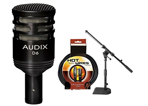 Audix D6 Kick Mic w/ XLR Cable & Mic Stand by Audix