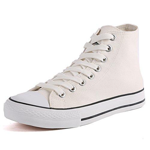 da traspiranti da bianca tela scarpe Scarpe fondo classiche top piatto high con casual uomo singole WFL uomo marea in scarpe wfaUqU