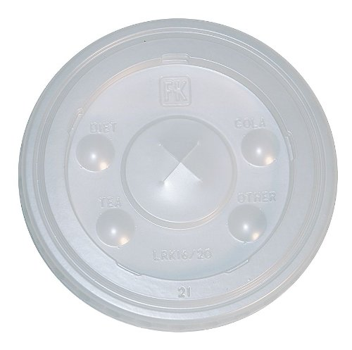 - Fabri-Kal LRK16/20 Lid for 16, 20 oz. Cold Cup, Flat, Identification Buttons, Straw Slot, Translucent, (Case of 1,000)