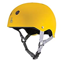 Triple Eight 1374 Helmet with Sweatsaver Liner, Large, Yellow Rubber