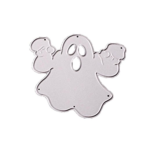 LNGRY Happy Halloween Metal Cutting Dies Stencils Scrapbooking Embossing DIY Crafts (A)
