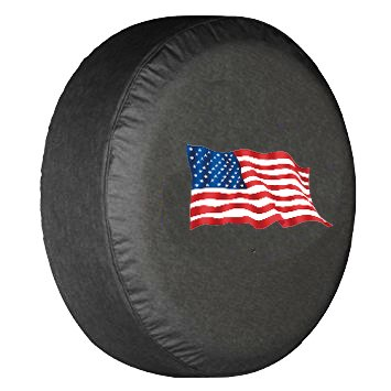ROCCS 17 Spare Tire Cover with Dog Pets Paws Logo 1PC Waterproof r17 Wheel Tire Jeep Paw Dog Prints Covers for Vehicle Jeep Wrangler Camper Trailer Cars RV SUV