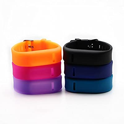 Austrake Colorful Replacement Silicone Wristband Band for Fitbit Flex Strap Bands