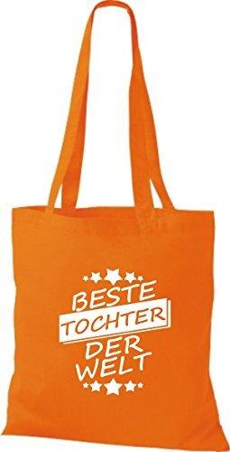 Shirtinstyle Cloth Bag Cotton Bag Best Tochter Der Welt Orange