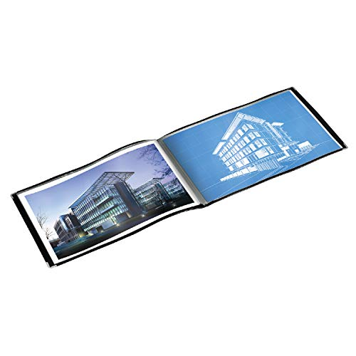 Binder Design View Edge Presentation - Cardinal Products ShowFile Tabloid Presentation Book, Black, 11 x 17, 1 per Box (55232)