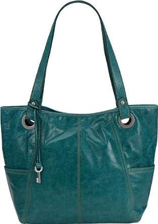 FOSSIL HATHAWAY GLAZED TURQUOISE TOTE BAG  Amazon.co.uk  Clothing