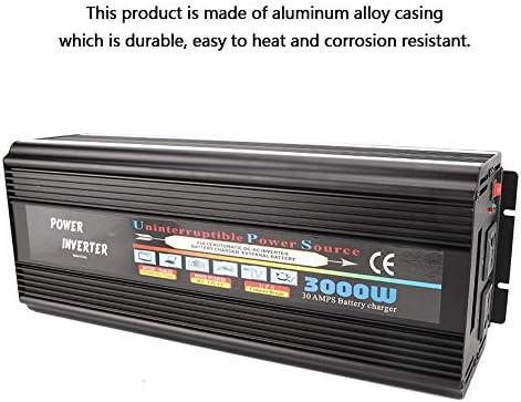Solar Wechselrichter,Solar Inverter Reine Sinus Wechselrichter 3000W AC220V Power Converter Verstärker Home Inverter,3000 watt wechselrichter solarwechselrichter
