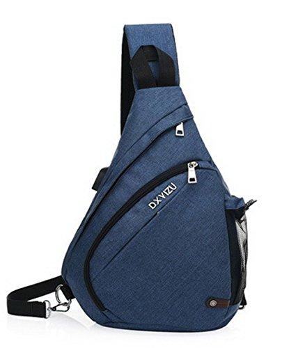 Mode Noir Zippers Cartable Bleu Activités VogueZone009 extérieures Des Nylon sacs Femme wU4zcSIqa