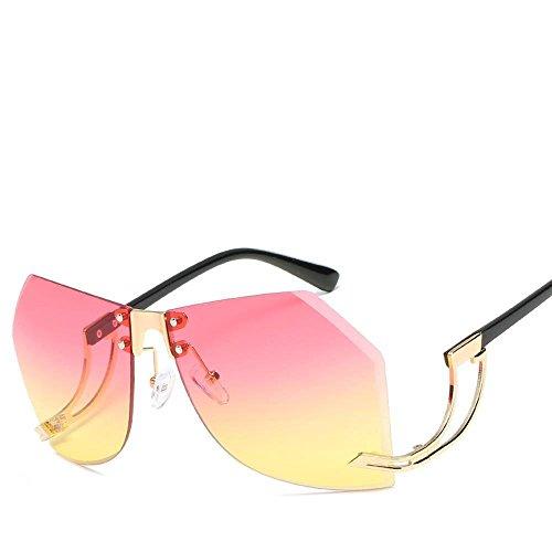 los Las Remaches Axiba de Irregulares Gafas de y creativos de Europeos Sol Sol de Gafas de del de Hombres Lentes Alta Moda de Americanos Metal F Sol Regalos Gafas de definición rFd4Iqd