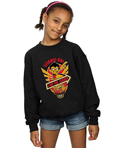 Teen Dc Fille Titans Sweat Noir I shirt Comics Am The Go Leader nxxrO